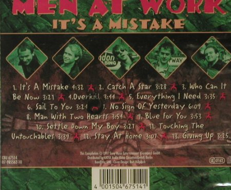 Men At Work: It's a Mistake, FS-New, Sony(), EU, 97 - CD - 95503 - 7,50 Euro