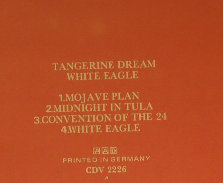 Tangerine Dream: White Eagle, Virgin(CDV 2226), UK, 1982 - CD - 95536 - 11,50 Euro