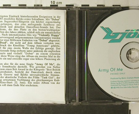 Björk: Army Of Me, Promo 1 Tr.,NoBooklet, One Little Indian/Polyd.(), UK, 1995 - CD5inch - 96133 - 10,00 Euro