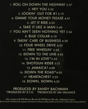 Bachman-Turner Overdrive: Best of B.T.O., Mercury(538 040-2), D, 1998 - CD - 96245 - 7,50 Euro