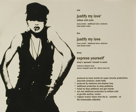 Madonna: Justify My Love*2+1, Sire(), D, 1990 - CD5inch - 96439 - 7,50 Euro