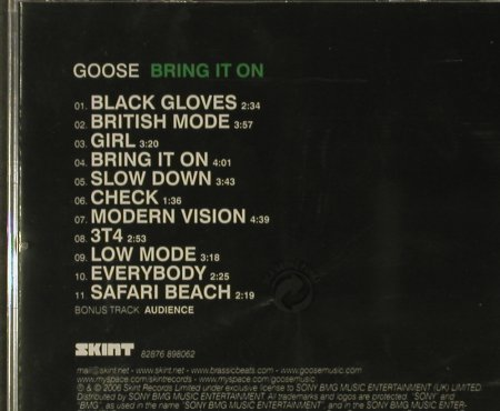 Goose: Bring It On, FS-New, Skint(), EU, 2006 - CD - 96735 - 10,00 Euro