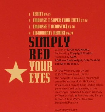 Simply Red: Your Eyes*4, Warner(), D, 99 - CD5inch - 96819 - 4,00 Euro