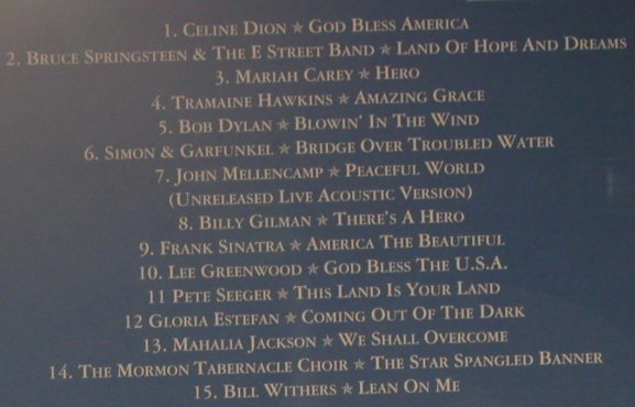 V.A.God Bless America: Celine Dion...Bill Withers,15 Tr., Sony(), , 01 - CD - 96974 - 5,00 Euro