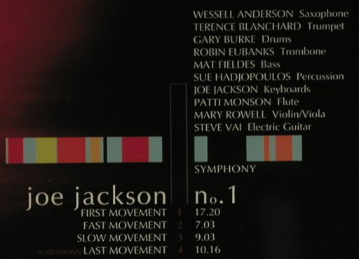 Jackson,Joe: Symphony No.1, Sony(), A, 99 - CD - 97075 - 11,50 Euro