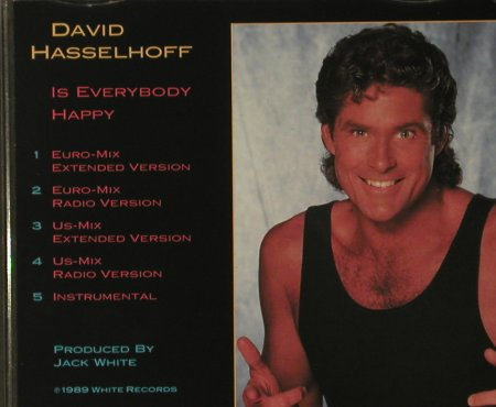 Hasselhoff,David: Is Everbody Happy*5, White Records(662 388), D, 1989 - CD5inch - 97294 - 3,00 Euro