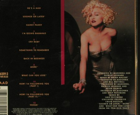 Madonna: I'm Breathless ,Dick Tracy(Film), Sire(), D, 90 - CD - 97759 - 5,00 Euro