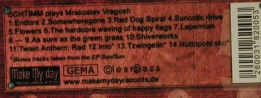 Schtimm: play Mraksolav Vragosh, Make My Day(), , 2005 - CD - 97866 - 7,50 Euro
