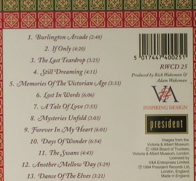 Wakeman,Rick & Adam: Romance Of The Victorian Age, President(RWCD 25), UK, 1994 - CD - 98224 - 10,00 Euro