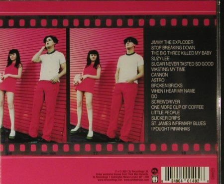 White Stripes,The: Same, XL Rec.(), , 2001 - CD - 98277 - 10,00 Euro