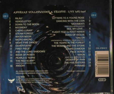 Vollenweider,Andreas & Friends: Live 1982-94, Columbia(478042 2), EU, 1994 - 2CD - 98551 - 7,50 Euro