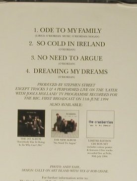 Cranberries: Ode To My Family+3, Island(), EU, 1994 - CD5inch - 98762 - 2,50 Euro