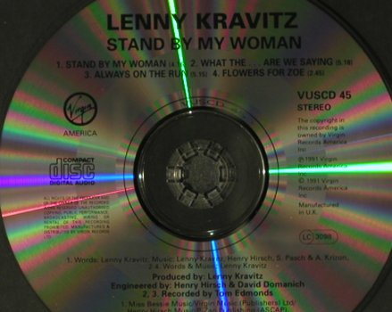 Kravitz,Lenny: Stand By My Woman+3, Virgin(VUSCD 45), UK, 1991 - CD5inch - 98851 - 4,00 Euro