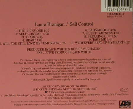 Branigan,Laura: Self Control, Atlantic(), D, 1984 - CD - 98891 - 5,00 Euro