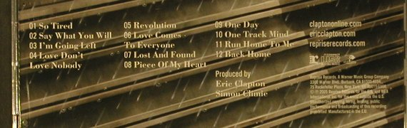 Clapton,Eric: Back Home, Reprise(), EU, 2005 - CD - 98935 - 10,00 Euro
