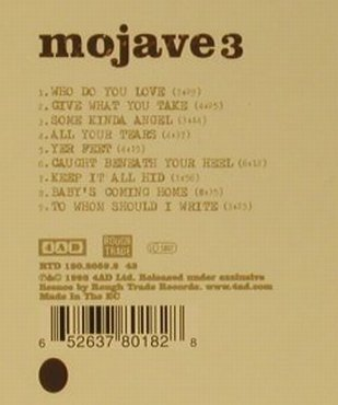 Mojave 3: Out Of Tune, 4AD(RTD 120.2059.2), EC, 1998 - CD - 99133 - 10,00 Euro
