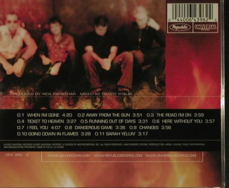 3 Doors Down: Away From The Sun, Universal(064 396-2), EU, 2002 - CD - 99168 - 7,50 Euro