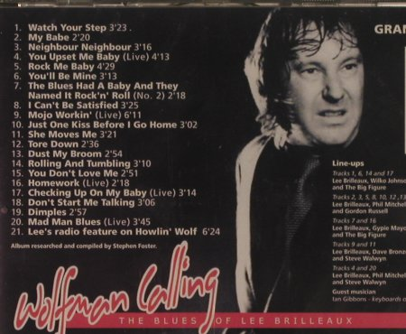 Dr.Feelgood: Wolfman Calling, Grand Records(GRANDCD 28), UK, 2003 - CD - 99583 - 10,00 Euro