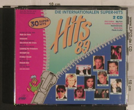 V.A.Hit's 89: Die Internationalen Super-Hits, Ariola(353 590), D, 1989 - 2CD - 99602 - 7,50 Euro