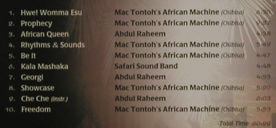 V.A.The Finest African Jazz: MacTontoh'sAfricanMachhine,A.Raheem, LaserLight(21 194), D, 1998 - CD - 80394 - 5,00 Euro