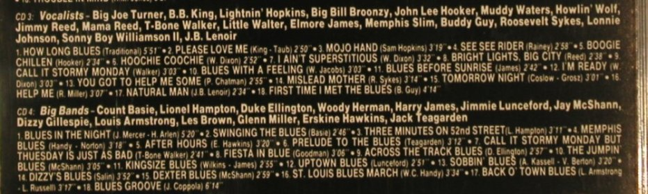 V.A.The Blues with the Famous: Big Bands,Combos,Soloists&Vocalists, Jazz Roots(CDB 1802/4), EEC, 1991 - 4CD - 80464 - 10,00 Euro