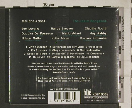 Adnet,Maucha: The Jobim Songbook, FS-New, Kind of Blue(), EU, 2006 - CD - 80994 - 10,00 Euro