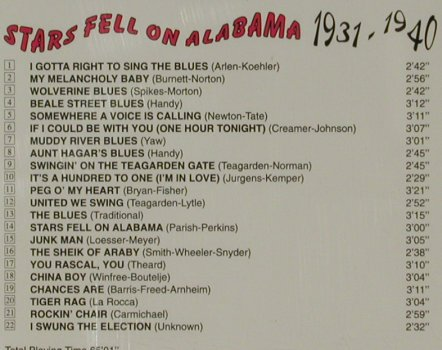 Teagarden,Jack  and his Orchester: Stars Fell On Alabama, 1931-1940, Giants Of Jazz(53287), I, 1997 - CD - 81603 - 6,00 Euro