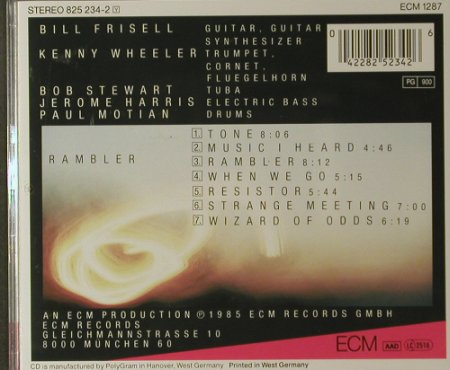 Frisell,Bill: Rambler, ECM 1287(825 234-2), D, 1985 - CD - 82377 - 7,50 Euro