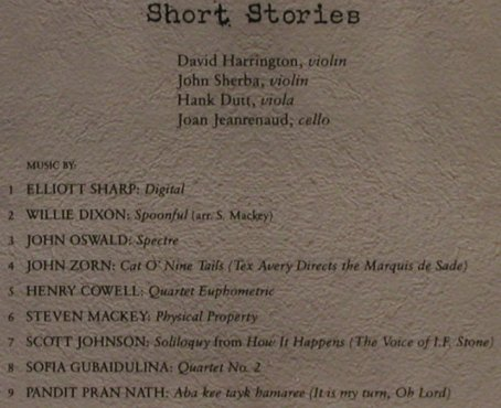 Kronos Quartet: Short Stories, Elektra(), D, 1993 - CD - 82400 - 10,00 Euro