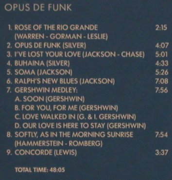 Jackson,Milt & the Modern Jazz Q.: Opus de Funk, Past Perfect(), , 2002 - CD - 82401 - 5,00 Euro