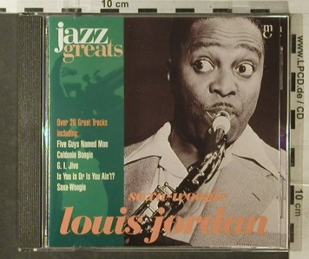 Jordan,Louis: Saxa-Woogie, Jazz Greats(), EU, 1996 - CD - 82409 - 7,50 Euro
