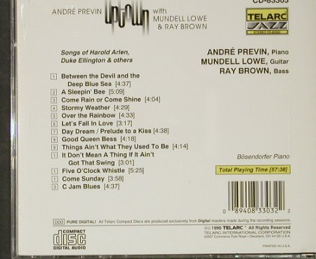 Previn,Andre with M.Lowe,Ray Brown: Uptown, Telarc(CD-83303), D, 1990 - CD - 82441 - 11,50 Euro