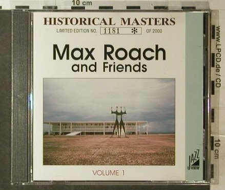 Roach,Max and Friends: Vol.1, Live 1960, JazzView(018), I,  - CD - 82443 - 10,00 Euro