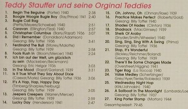 Stauffer,Teddy & Original Teddies: Die gr. Deutschen Tanzorchester, Membran(), D,Digi, 2005 - CD - 82456 - 7,50 Euro