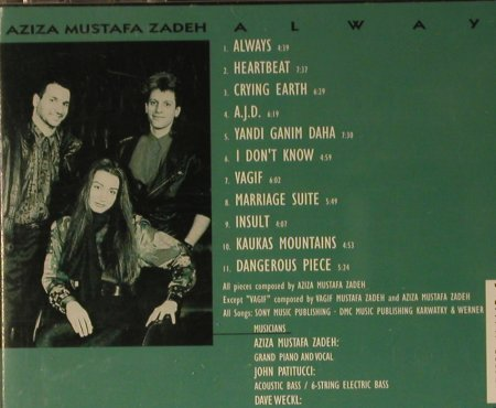 Zadeh,Aziza Mustafa: Always, Columbia(473885 2), A, 1993 - CD - 82466 - 7,50 Euro