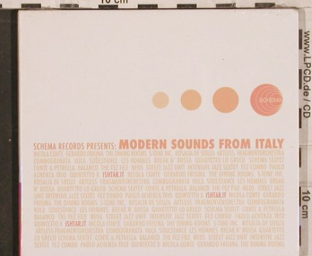 V.A.Modern Sounds from Italy: Nicola Conte...Quartetto Moderno, Schema, Digi(), I,FS-New, 2003 - CD - 82948 - 10,00 Euro