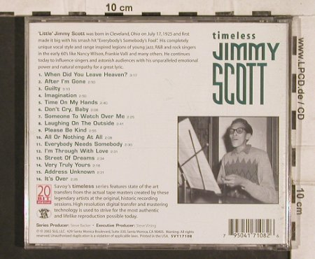 Scott,Jimmy: Timeless, Savoy Jazz(SVY 17108), US, 2002 - CD - 83329 - 6,00 Euro