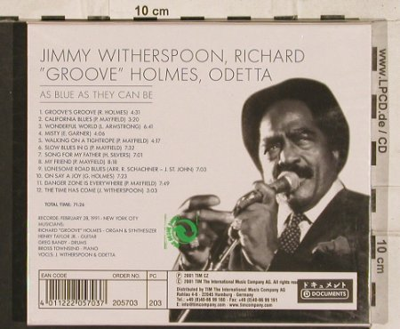 Witherspoon,Jimmy: As Blue As They Can Be, FS-New, TIM(), D, 2001 - CD - 83389 - 7,50 Euro