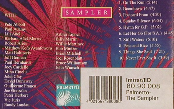 V.A.Palmetto Sampler: Vol.1, Pete Abbott,Paul Adamy, Palmetto(), US, 10 Tr., 1994 - CD - 83484 - 6,00 Euro
