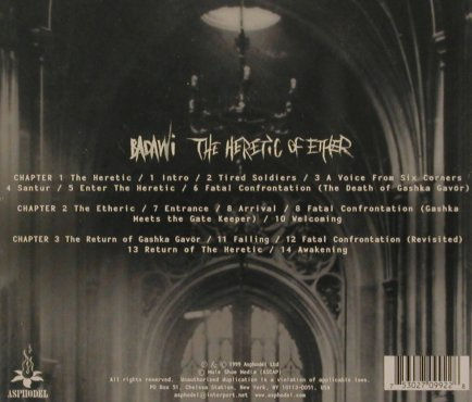 Badawi: The Heretic Of Ether, Asphodel(), , 1999 - CD - 84181 - 12,50 Euro