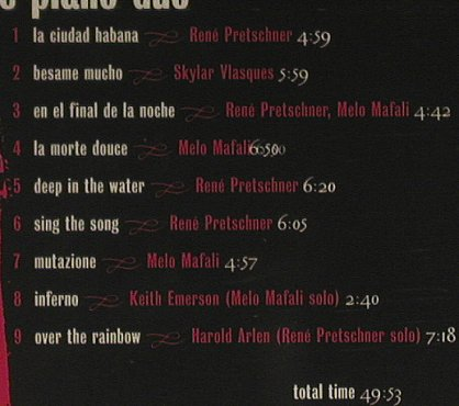 Pretschner & Mafali (The Piano Duo): El Latino,Digi, FS-New, GreenHouse(), D, 97 - CD - 90607 - 7,50 Euro