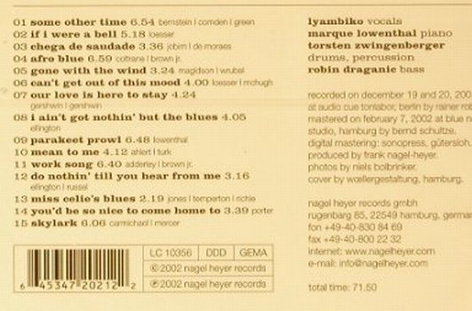 Lyambiko: Out of This Mood, FS-New, Nagel(), , 2002 - CD - 92253 - 9,00 Euro