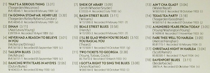 Teagarden,Jack: I gotta Right to sing the Blues, ASV(CD AJA 5059), UK, 1989 - CD - 92311 - 10,00 Euro