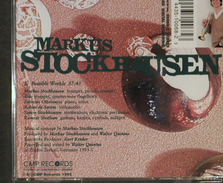 Stockhausen,Markus: Possible Worlds, 1Tr. 57:45, CMP(CD 68), D, 1995 - CD - 92916 - 10,00 Euro