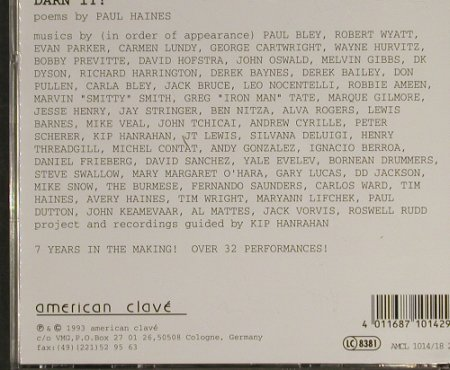 Haines,Paul: Darn It !, American Clave(AMCL1014 2), D, 1993 - 2CD - 93187 - 10,00 Euro
