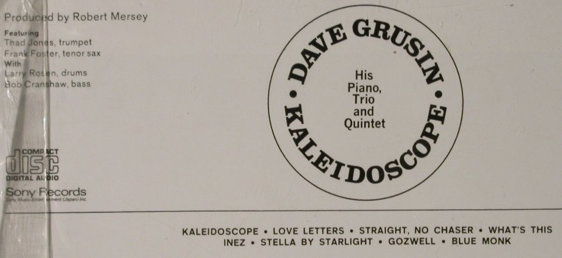Grusin,Don: Kaleidoscope '65, Digi, FS-New, Sony(SRCS), J, 1997 - CD - 93202 - 11,50 Euro