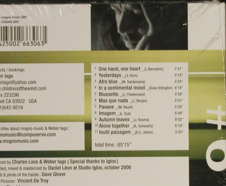 Weber Iago: Two Hands, One Heart,Digi, FS-New, mogno(j006), , 2001 - CD - 93249 - 10,00 Euro
