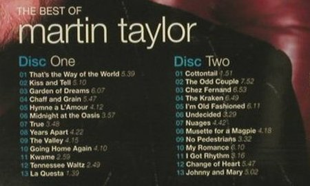 Taylor,Martin: The Best of, P3 Music(014), UK, 2005 - 2CD - 93957 - 10,00 Euro