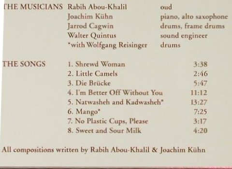 Abou-Khalil/J.Kühn/J.Cagwin: Journey to the center of an Egg, Enja(), D, FS-New, 2005 - CD - 94103 - 12,50 Euro