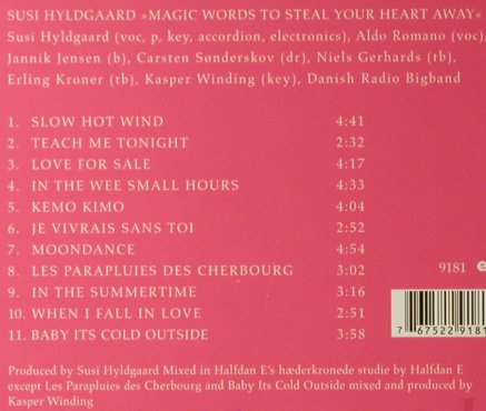 Hyldgaard,Susi: Magic Words, Digi, Enja(9181), D, 2007 - CD - 95890 - 10,00 Euro